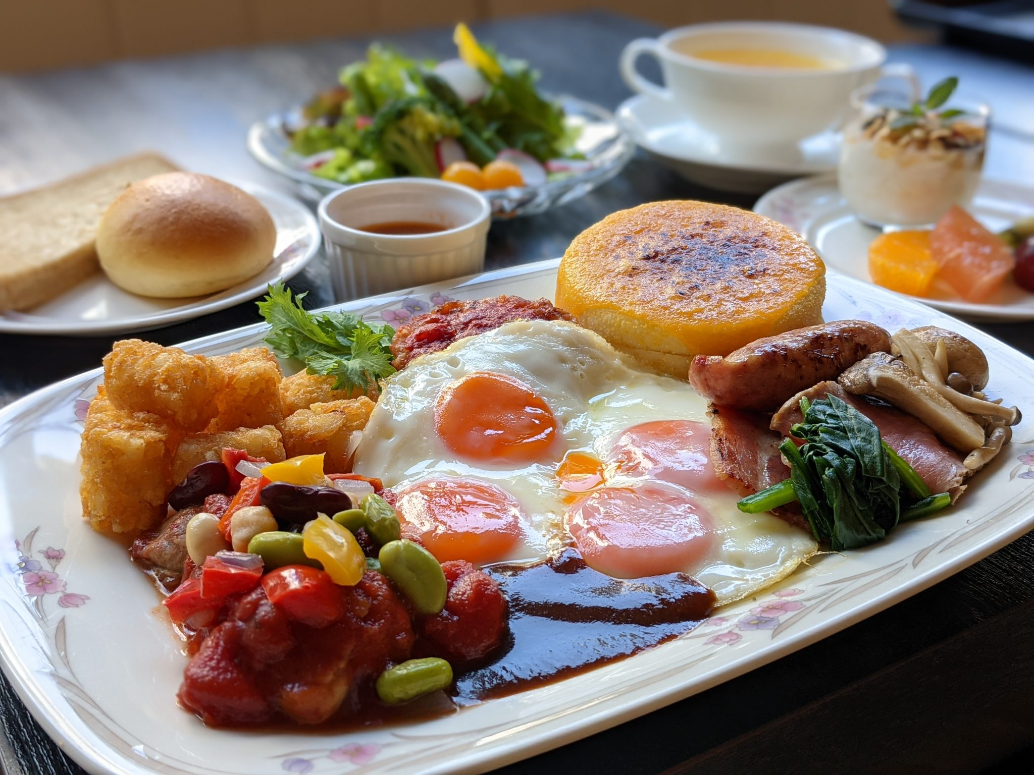 あかねくりや自慢の朝食をお楽しみ下さい